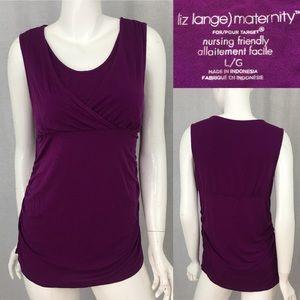 Size Large Liz Lange Purple Maternity Nursing Top